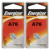2x Energizer 1.5V Alkaline Battery A76, PX76A, PX675A, GPA76, 1128MP, 1166A