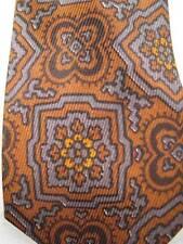 Retro Necktie Shiny Brown Gray & Black Floral Print Weitzenkorns Tie Vintage (O)