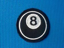 8 SPOT POOL BALL SNOOKER BILLIARDS SYMBOL BLACK SOW SEW IRON ON PATCH BADGE