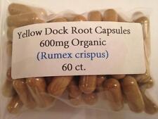 Yellow Dock Root Organic Vegan Capsules 60 ct.