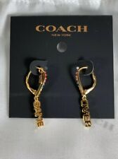 NWT Coach Pac Man Earrings Game Over Limited Edition Drop Dangle