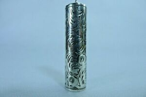 Solid Silver 800 Vintage Empty Lipstick Holder / Tube / Case Only