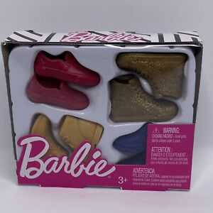 Barbie KEN DOLLS SHOES & BOOTS Red Casual, Gold Ankle, Mustard Hike, Navy Dress