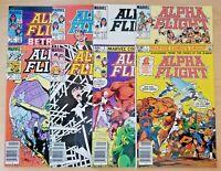 Alpha Flight issues 1-8 (Marvel 1983 comic book lot/run) 2 3 4 5 6 7