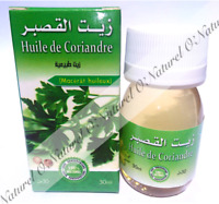 Huile de Coriandre Macérât 100% Naturelle 30ml Coriander Oil, Aceite de Cilantro