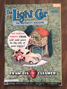 The Light Car Magazine March 1948 Fram Front Cover