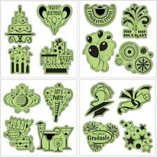 Inkadinkado Stamping Gear Cling Stamps, Celebrations Fun Set