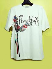 Thankful Korean brand  embellished with patch Cotton Tshrt