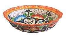 "Mexican Talavera Large oval bowl 13"" x 10"" x 4"" Ceramic, Pottery, Handmade"