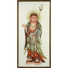 Himmlische Guanyin Kwan Yin Bodhisattva chinesisches Rollbild Kuan Yin
