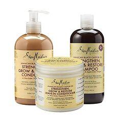 Shea Moisture Jamaican Black Castor Oil Combination Hair Product Pack NEW USA