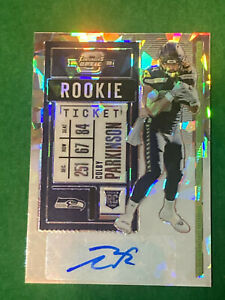 Colby Parkinson 16/22 Cracked Ice 2020 Contenders Optic Auto Rookie Ticket