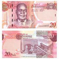 Botswana 20 Pula 2009 First Prefix 'AA' P-31a Banknotes UNC