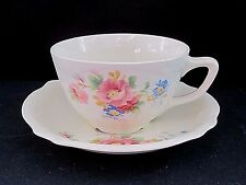 Homer Laughlin China Virginia Rose Shape HLC276 Cup(s) & Saucer(s) 1937 HTF
