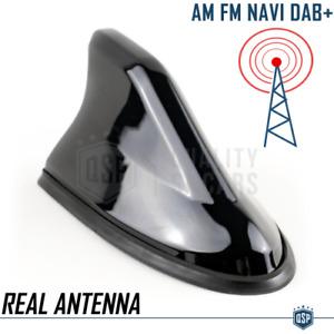 Antenna Auto a PINNA DI SQUALO Nera Universale VERA Ricezione RADIO AM-FM-DAB+