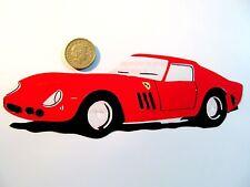 "Ferrari 250 GTO Car,Original Pop Art,Reusable Vinyl Decal Sticker 7""X 2"" inches"