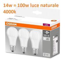 Osram Base Clas a Lampada LED E27 14 W Luce neutra 3 Lamp Classe Di...