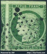 FRANCE CERES N° 2 AVEC OBLITERATION ETOILE PLEINE DE PARIS COTE 1000€