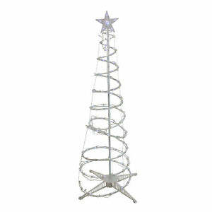 Northlight 5' Pure White LED Spiral Christmas Tree Outdoor Decoration