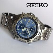 Rare vintage 1991 Seiko 7T32-7H40 Titanium men's quartz watch Chrono Alarm Date