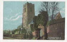 St Peters Church & Wolseys Gate Ipswich Suffolk England Vintage Postcard Us051