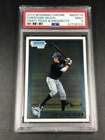 CHRISTIAN YELICH 2010 BOWMAN CHROME #BDPP78 DRAFT PICKS PROSPECTS ROOKIE PSA 9