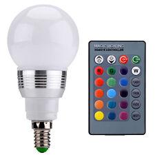 AGM E14 3W RGB LED Lampe Licht Beleuchtung Farbwechsel Glühbirne Fernbedienung