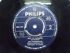 "DON ROSENBAUM 6012 275 RARE SINGLE 7"" INDIA INDIAN 45 rpm VG+"