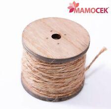 ROCCHETTO di legno CORDA filo NATURALE 26mt cordoncino nastro decorazioni regali