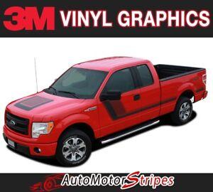 2009-2019 Ford F-150 Truck QUAKE Hood & Sides Digital Print Stripe Decal Graphic