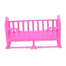 Darling Doll Furniture for American Girl Rocking Cradle Bed Pink FO