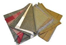 Tweed Patchwork 100% Laine Vestige Chutes de tissus 10 Aléatoire Carrés 23cm x
