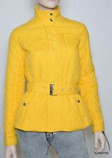 Nwt Lauren by Ralph Lauren Quilted Jacket Parka Belted Coat Top ~Mango Yellow *L