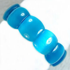 18x22mm Aquamarine Cat's Eye Gemstone Bracelet