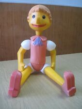 Soviet  cartoon toy Buratino Pinocchio PLASTIC VINTAGE TOY RUSSIAN USSR 60TH