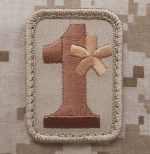 1* ONE ASS TO RISK ASTERISK ASSTERISK ARMY DESERT VELCRO® BRAND FASTENER PATCH