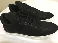 buy popular 2bd01 ba63f New FILLING PIECES Black Nubuck Leather FLORAL EMBOSSED Low Top SNEAKER  Sz-45