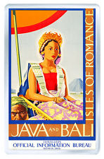 JAVA AND BALI VINTAGE REPRO FRIDGE MAGNET SOUVENIR IMAN NEVERA