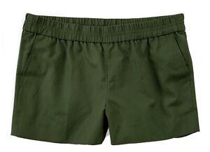 "J.Crew Factory Women's 8 - NWT 3"" Tuscan Green Boardwalk Cotton Pull-On Shorts"