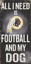 Washington Redskins Football and Dog Wood Sign [NEW] NCAA Man Cave Den Wall