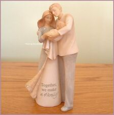 NEW FAMILY FIGURINE BY FOUNDATIONS KAREN HAHN MOM DAD BABY FREE U.S. SHIPPING