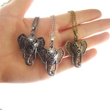 3 Colors Elephant Design Perfume Fragrance Aromatherapy Diffuser Locket Necklace