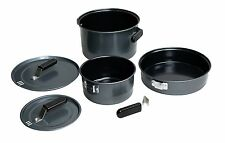6-Piece Family Camping Cook Set Coleman Black Outdoor Nonstick Steel New