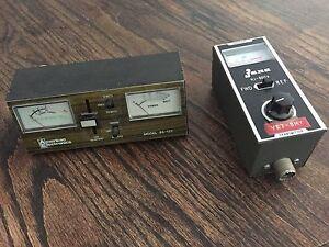 American Electronics 95-137 SWR Meter & Jana HJ-8017A Field Strength Meter