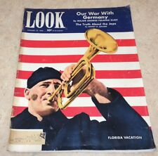 Look Magazine Jan. 1942 Our War With Germany Japan Hitler Homefront Rare