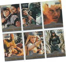 "Xena The Warrior Princess Seasons 4 & 5 - 6 Card ""Xena Enemies"" Chase Set E1-E6"