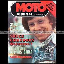 MOTO JOURNAL N°394 RALLYE PARIS-DAKAR BULTACO 125 TROPHY HONDA CB 125 T '79
