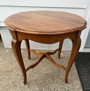 Beautiful Ethan Allen Maison Country French Round End Table #37-8404 Finish 357