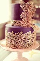 EDIBLE READY MADE SUGAR  4 LARGE LACES CAKE BIRTHDAY ANNIVERSARY ENGAGEMENT