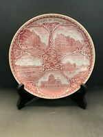 Staffordshire England VIEWS OF CHICAGO Plate Made For Marshall Field & Co. VTG